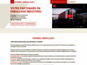 screenshot http://www.fournel-emballages.com/ conditionnement de produit industriel lyon