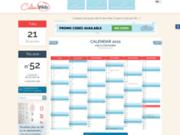 Calenweb.com: Calendriers et plannings à imprimer.
