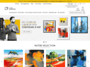 screenshot http://fr.carredartistes.com galerie d'artiste peintre contemporain