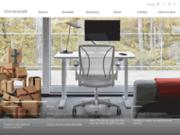 screenshot http://fr.humanscale.com Humanscale présente ses sièges ergonomiques et bureaux assis/debout