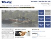 screenshot http://fr.touax-river-barges.com Logistique fluviale Touax River Barges