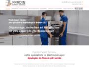 screenshot https://www.fradinexpertservice.com/ dépannage, réparation, pièces détachées pour électroménager