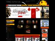 screenshot http://www.france-aspiration.com/ aspiration centralisée, boutique en ligne
