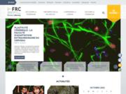 screenshot http://www.frc.asso.fr fédération pour la recherche sur le cerveau frc