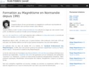 screenshot http://fredericlouvet.com Formation par magnétiseur