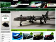 screenshot http://www.freeway01.com vente de voitures miniatures pour les collectionneurs