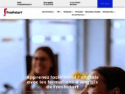 screenshot http://www.freshstart.fr Freshstart propose des cours d'anglais pour les particuliers et entreprises