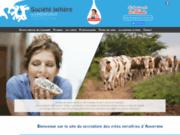 screenshot http://www.fromages-laqueuille.fr société laitière de laqueuille