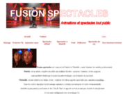 screenshot http://www.fusion-spectacle.com animations fusion spectacles