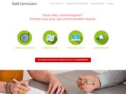 screenshot https://www.gael-lemouton.com/ Formation à la communication pour les créateurs d'entreprise