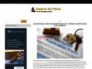 screenshot http://www.galerie-art-paris.com galerie d'art parisienne