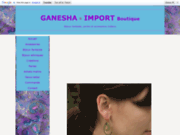 screenshot http://www.ganeshaimport.com/ bijoux fantaisie Indiens