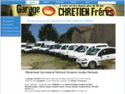 screenshot http://www.garage-chretien.fr/ garage chretien vente d'utilitaires et voitures d'occasion en meuse