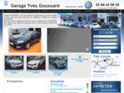 screenshot http://www.garage-goussard.fr/ Entretien de véhicules Volkswagen en Haute-Saône