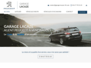 screenshot http://www.garage-lacaze-34.com garage Peugeot à Vendargues 34