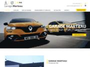screenshot https://www.garage-marteau36.com/ agent Renault et Dacia à Ardentes 36120, près de Châteauroux dans l'Indre