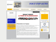 screenshot http://www.garage-renault-touttypauto.com/ entre romans et valence, votre garage renault