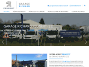 screenshot https://www.garage-richard-23.com/ garage Peugeot et Iséki Ego à Le Grand Bourg 23240