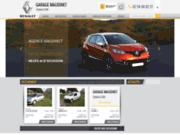 screenshot http://www.garagemaudinet.com garage Renault proche de Vierzon