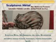 Art animalier en sculpture métal, Gauger pierre lucien sculpteur-créateur