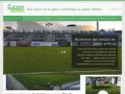 screenshot http://www.gazon-artificiel.fr Gazon synthétique