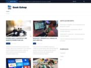 screenshot http://www.geek-eshop.com Boutique de cadeaux officiels geek, gamer et otaku et de gadgets insolites.