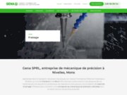 Gena SPRL, entreprise de mécanique de précision à Nivelles, Mons