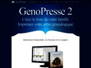screenshot http://genopresse.com imprimer sa généalogie. arbre généalogique, livre.