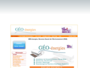 screenshot http://www.geo-energies.fr/ energies renouvelables,géothermie,solaire