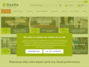 screenshot http://www.gextile.com dalles pvc amovibles pour sols professionnels