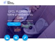 screenshot http://www.gfcl-plomberie-gard.com/ rénovation de sanitaires, gard et hérault