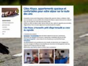 screenshot http://www.gite-alsace.eu bienvenue en alsace, dans nos gites sur la route des vins à hunawihr