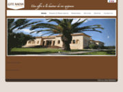 screenshot http://www.gitenadia.com gîte nadia : hotel de charme à casablanca