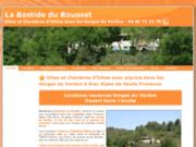 screenshot http://www.gites-provence-verdon.com gîte rural en provence dans les gorges du verdon