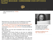 Gladys Boucaud, comédienne voix off de référence