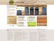 screenshot https://www.gpf-fermetures.com volets bois, porte garage bois