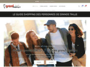 screenshot http://www.grandshopping.fr grandshopping.fr - le guide shopping des personnes de grande taille