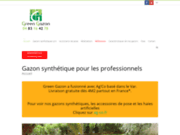 screenshot http://www.green-gazon.fr gazon synthétique en paca