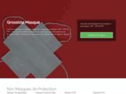 screenshot https://www.grossiste-masques.fr/ Grossiste Masque