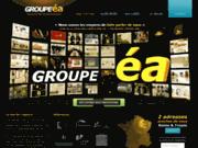 screenshot http://www.groupe-ea.com/ Groupe éa- Agence de communication Troyes, Reims, Paris