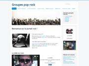 screenshot http://www.groupe-pop-rock.fr portail pop rock