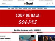 screenshot http://www.gsell.fr gsell est spécialiste de la maroquinerie et des bagages