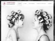screenshot https://www.hair-flash.fr/ Salon de coiffure à Bayeux