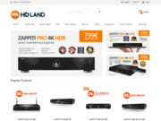screenshot http://www.hdland.fr hd land, le spécialiste de la hd