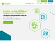 screenshot https://www.hexasms.fr SMS marketing