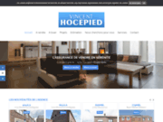 screenshot http://www.hocepied.be/ agence immobilière