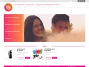 screenshot https://www.holi-world.com/fr/ poudre colorée