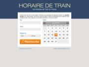screenshot http://www.horairetrain.com horaires des trains