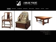 screenshot http://www.horloge-penchee.com/ antiquités brocantes à Caen