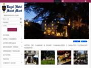 screenshot http://www.hotel-auvergne.com hôtel auvergne : hôtel royal saint mart